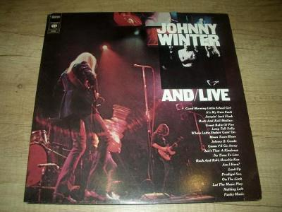 Johnny Winter – And/Live (1988) 2xLP ,EX+