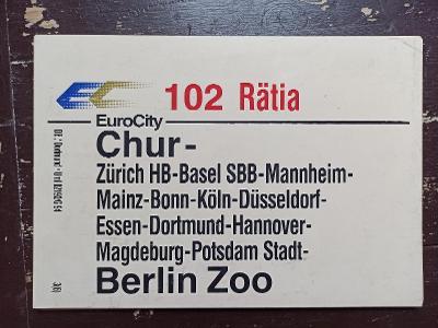 Směrová cedule DB - EC 102 RÄTIA
