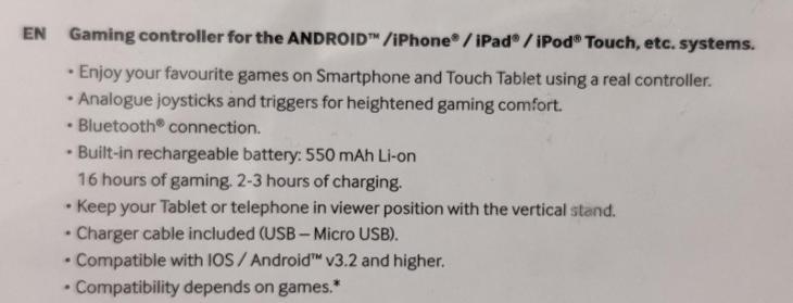 Bigben gamephone Controller Pro - ovladač pro mobilní telefon - Ostatní příslušenství