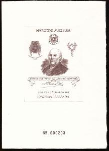 ČR - ČÍSLOVANÝ TISK JOACHIM BARRANDE, NÁRODNÍ MUZEUM (S2362)