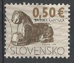 Slovensko, r. 2009, Pof. 444, razítkované