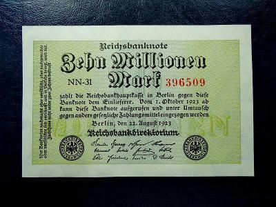 10 Millionen Mark 1923 UNC