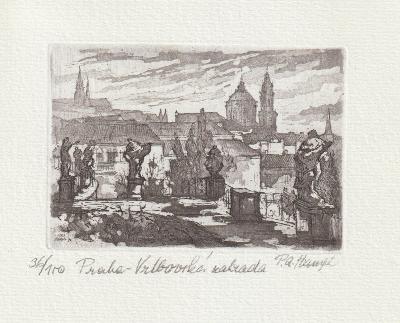 Hampl Petr Alois, lept, akvatinta, signováno