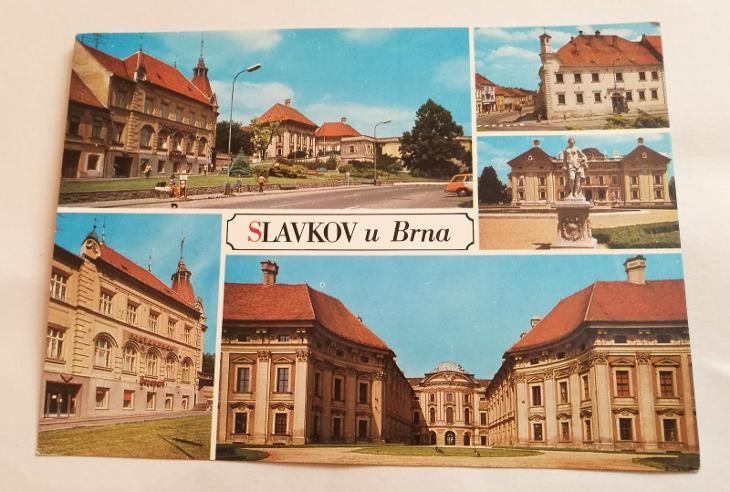 Pohled   Slavkov u Brna - Pohlednice