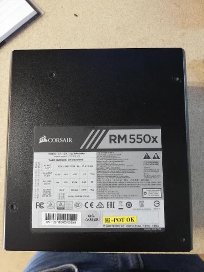 Corsair RMx Series RM550x (v.2018) - 550W - PC komponenty