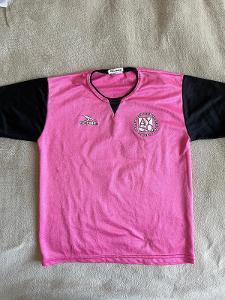 Růžovo černý dres triko tričko s krátkým rukavem, velikost XS/S