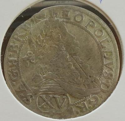 LEOPOLD I. 15 KR VÍDĚŇ 1675