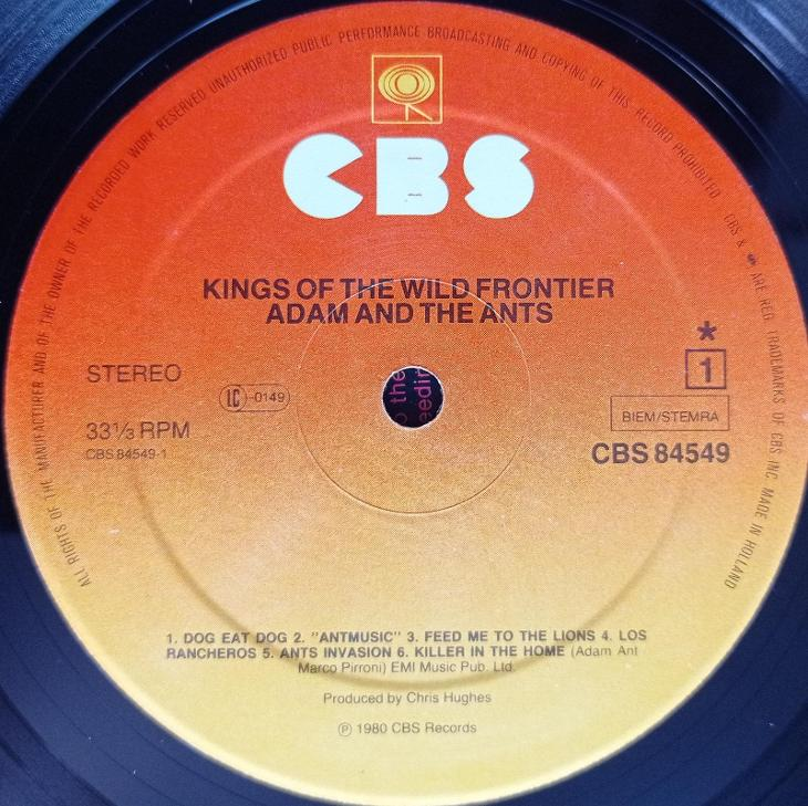 Adam and The Ants - Kings of The Wild Frontiers - CBS 1980-EX++ - Hudba