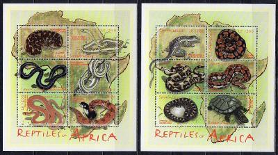 Sierra Leone-Plazi a obojživelníci 2001**  Mi.3801-3812 / 26 €