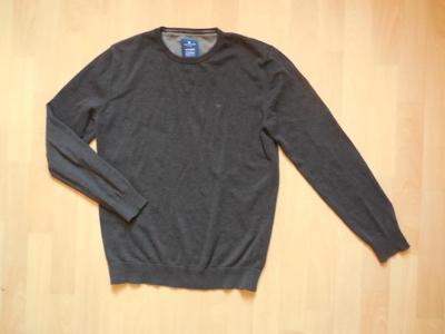 pánský  Tom Tailor tm.šedý svetr, ,slabý,ba , L-XL