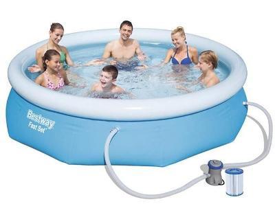 Expanzní bazén s čerpadlem 305x76cm - BESTWAY 57270 + dárek