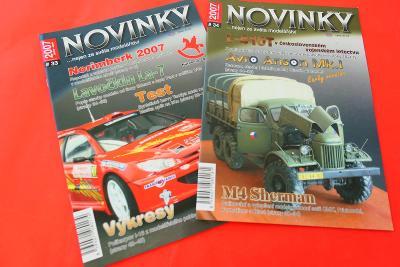 2 ks časopisy Novinky ze světa modelářství - 2007
