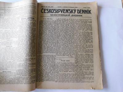 Československý denník,  Slovenské hlasy, Irkutsk 1919,   53 čísel