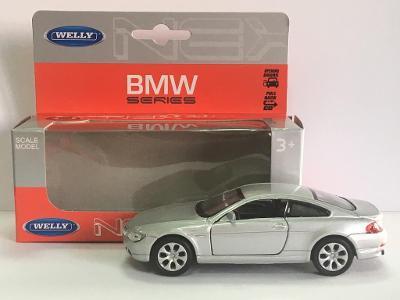 2. jakost BMW 645Ci - Welly 11,5cm měřítko 1/34 až 1/39 (H17-10)
