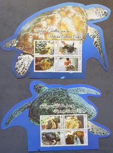 Tonga 2013, fauna - želvy, 2xaršík, katalog.cena 52 Euro!