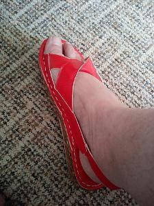 Dámské sandále stélka 25,5 cm na širší nohu nové