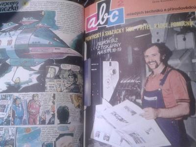 ABC ROČNÍK 22 1977  KOMIKS FOGLAR VYŠKOVSKÝ RICHARD abcx1x
