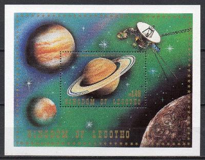 Lesotho-Výzkum vesmíru 1981**  Mi.Bl.8 / 3,50 €