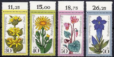 Západní Berlín / West Berlin 1975 Mi.510 -513 MNH ** flora / květiny