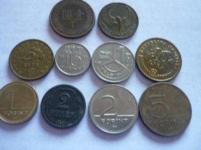 Ruzné mince-10.Ks. - 100.-