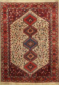 Velký vlněný perský íránský orientální nomádský koberec Šíráz Yalame