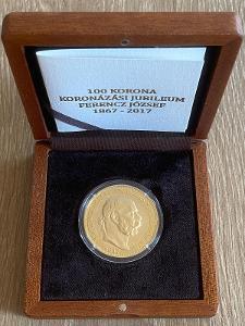 100 Koruna Korunovační Jubileum 150 let 1867 - 2017