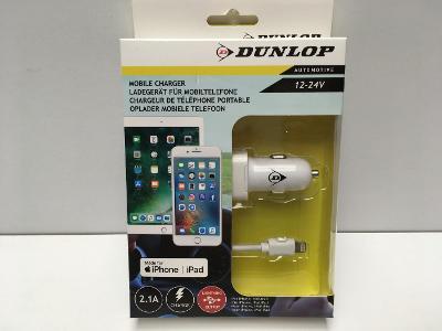 Kvalitní nabíječka do auta DUNLOP na iPhone, lighting, nová