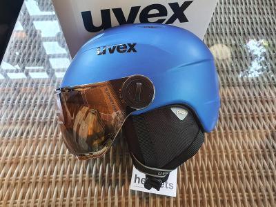 Dětská lyžařská helma Uvex Junior visor pro, velikost 52-54