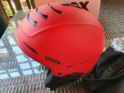 Lyžařská přilba UVEX Legend Red Mat, velikost 55-59