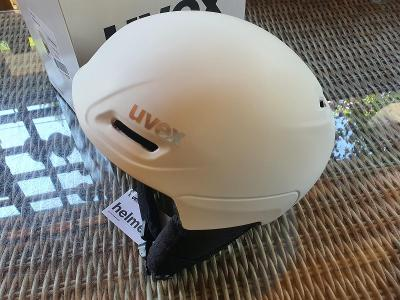 Lyžařská přilba UVEX Ultra White/Black, velikost 55-59