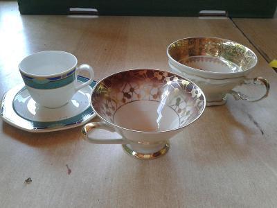 starý porcelán  -  šálky- viz foto /861