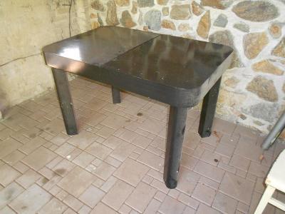 Starý jídelní rozkládací stůl,kulaté rohy,masivní nohy,30.léta min.st.