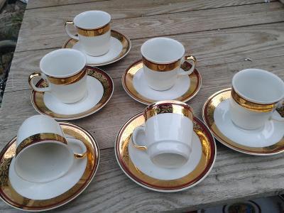 Starý porcelán - šálky zlacené - viz foto / 861