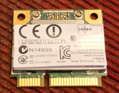 WiFi karta s čipem realtek RTL8723AE