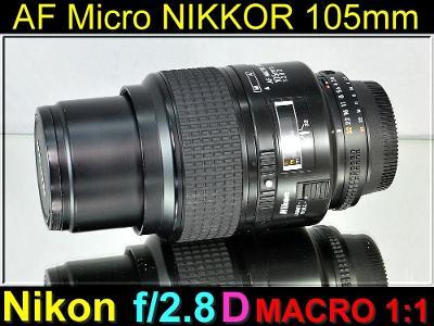 💥 Nikon AFMicro NIKKOR 105mm f/2.8 D *MACRO 1:1, 1:2.8 FX Lens*👍TOP
