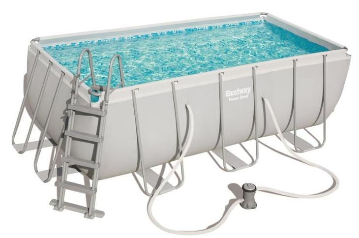 Bazén s konstrukcí 412 x 201 x 122 cm se schůdky a filtrací 2006 l/h - Zahrada