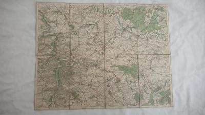 Stará turistická mapa Brandýsko-Praha-r. cca 1930-Klub ČS turistů
