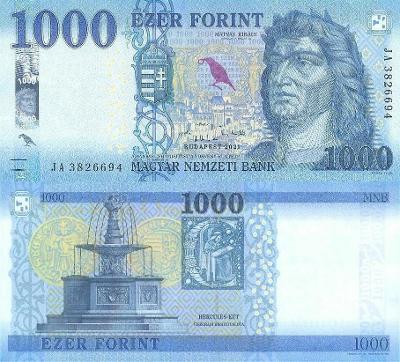 MADARSKO 1000 Forint 2021 P-203c NOVINKA UNC