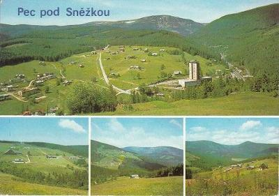 Pohlednice Krkonoše, Pec pod Sněžkou, neprošlá