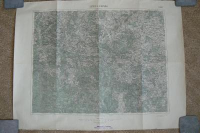 ARMÁDNÍ MAPA SUŠICE A VIMPERK - 1931