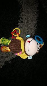 Závěsná hračka na kočárek pro miminka - opička