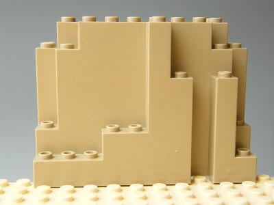 LEGO 100% orig LEGO 6082 Dark Tan skala Panel 4 x 10 x 6