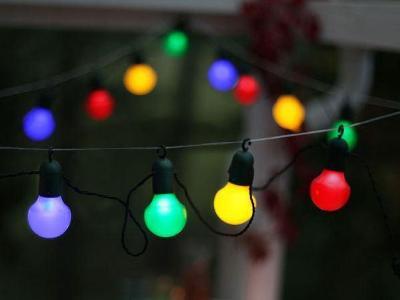 Party světelný řetěz 20 LED 10.7 m, indoor + outdoor, ZÁRUKA, -30 %
