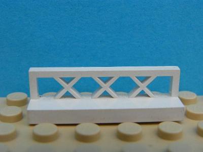 LEGO 100% orig PLOT ZÁBRADLÍ 3633 - White Fence 1 x 4 x 1