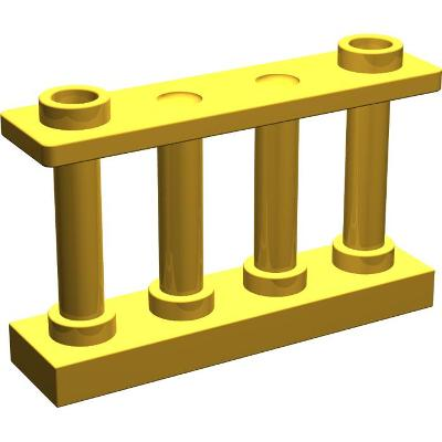 LEGO 100% orig PLOT ZÁBRADLÍ zlati  30055 White Fence 1 x 4 x 2
