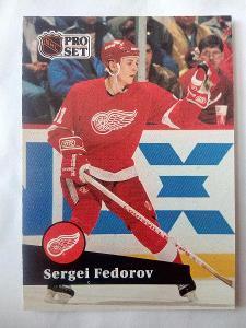 Sergei Fedorov, Detroit Red Wings, #53, Pro set 1991/92
