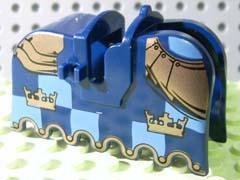 LEGO 100% orig SEDLO KONĚ jezdecké brnění okraj se zlatými korunami