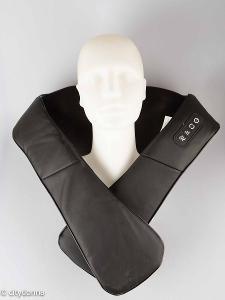 Masážní shiatsu přístroj Elehot/ masíruje a rozehřívá/PU kůže/Od 1Kč!