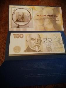 První pamětní bankovka ČNB 100 Kč 2019 - Alois Rašín, UNC série TG 01