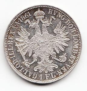 Fr.J.I.,1 zlatník 1861 A, mimoriadna zachovalosť, nádherný stav UNC